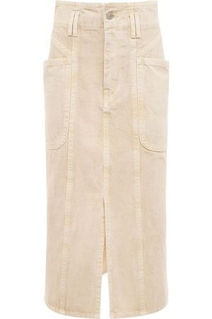 Isabel Marant Toria Cotton Denim Midi Skirt