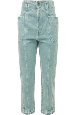 Isabel Marant Tucson High Waist Cotton Denim Pants