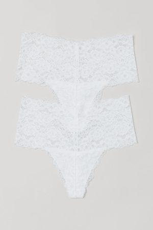 H&M Dames Slips - Set van 2 kanten slips - Thong