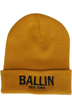 Ballin New York Ballin unisex muts okergeel zwart geborduurd