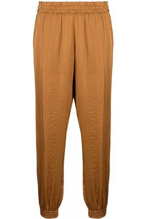BLANCA Elasticated cropped-leg trousers