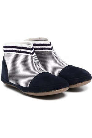 PèPè Striped fabric ankle boots