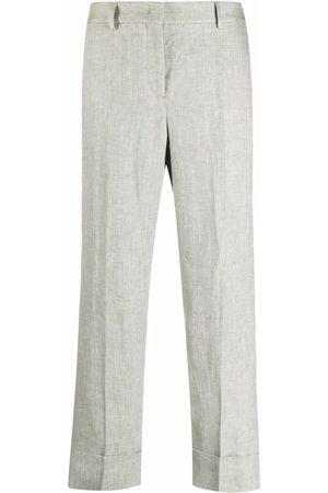 Incotex Cropped straight-leg linen trousers