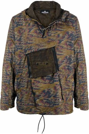 STONE ISLAND SHADOW PROJECT Jacquard-print hooded jacket