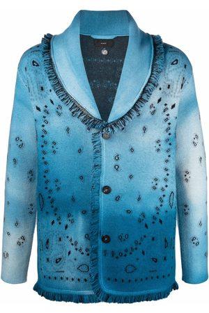 Alanui Heren Cardigans - Dusty Road tie-dye cardigan