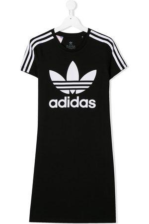 adidas Meisjes Korte jurken - Short sleeve Trefoil T-shirt dress