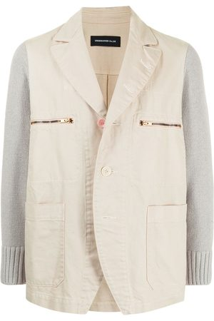 UNDERCOVER Contrasting-sleeve cotton blazer
