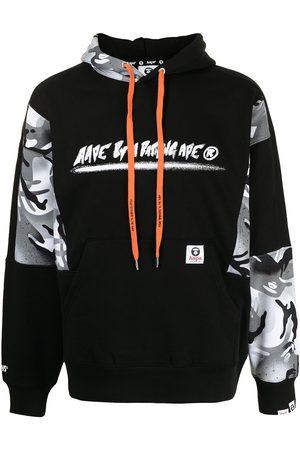 AAPE BY A BATHING APE Heren Strings - Logo-print drawstring hoodie