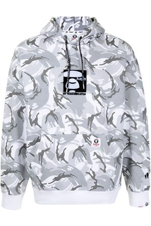 AAPE BY A BATHING APE Camouflage-print pullover hoodie
