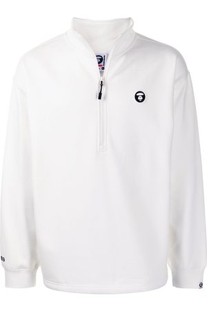 AAPE BY A BATHING APE Logo-plaque half-zip sweater