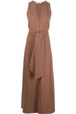 BLANCA V-neck maxi dress