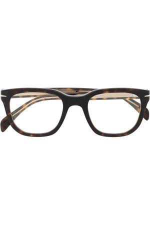 DB EYEWEAR BY DAVID BECKHAM Tortoiseshell clip-on lens glasses