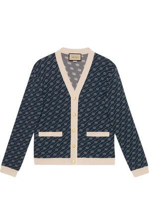 Gucci GG diagonal knitted cardigan