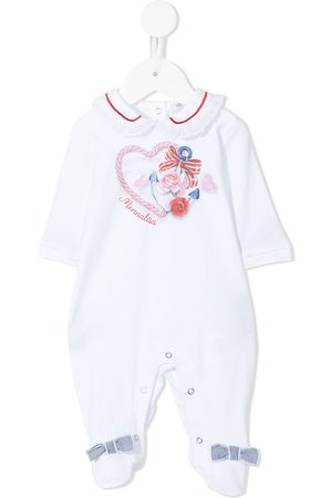 MONNALISA Anchor heart logo print pyjamas