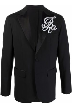 Dsquared2 Embroidered peak-lapel jacket