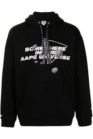 AAPE BY A BATHING APE Slogan-print pullover hoodie