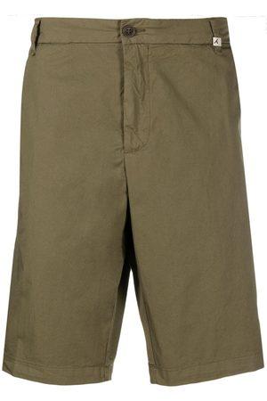 MYTHS Mid-rise flared chino shorts