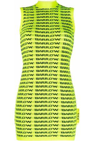BARROW Intarsia logo mini dress