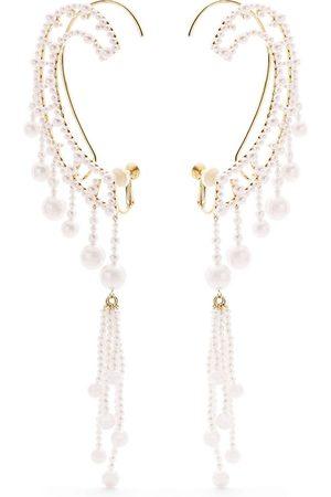 Tasaki Dames Ear cuffs - 18kt yellow gold Waterfall Akoya and freshwater pearl ear cuffs