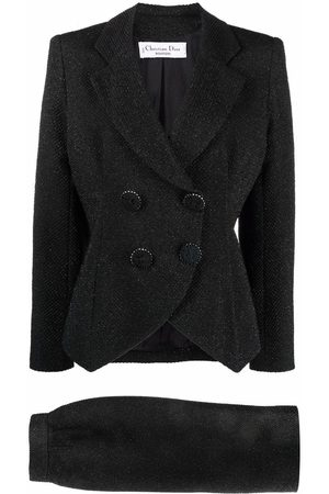 Dior Dames Rokken - Pre-owned woven double-breasted skirt suit