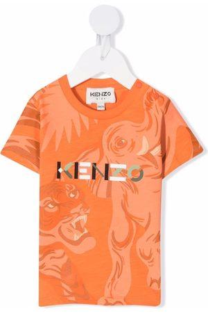 Kenzo Animal-print logo T-shirt