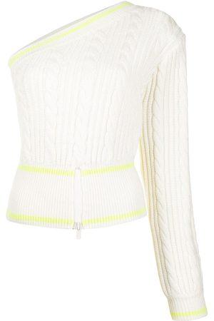 DAVID KOMA Asymmetric cable-knit jumper