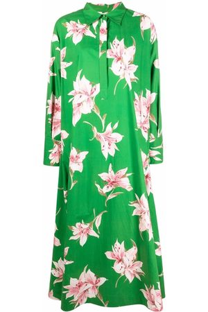 VALENTINO Lily-print long dress
