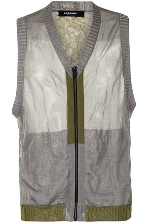 A-cold-wall* Rib-trimmed zipped gilet