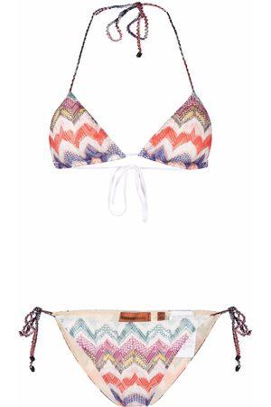 Missoni Chevron-knit triangle-cup bikini set