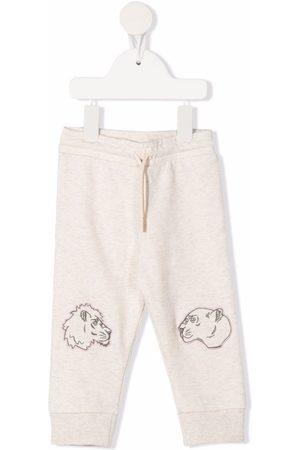 Kenzo Embroidered animal track pants