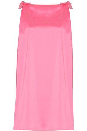 Bernadette Bow-detail sleeveless minidress