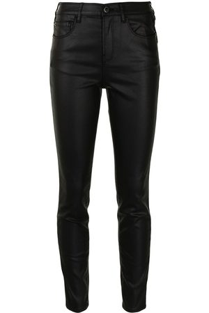 Emporio Armani Dames Stretchbroeken - Stretch-fit coated skinny jeans