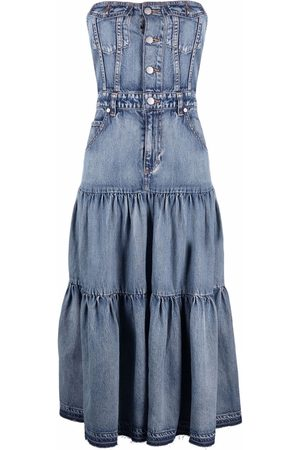 RED Valentino Strapless denim dress