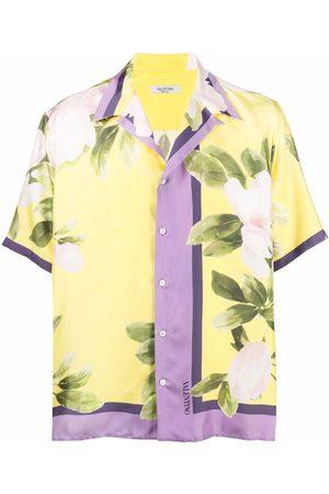 Valentino Flora-print short-sleeve shirt