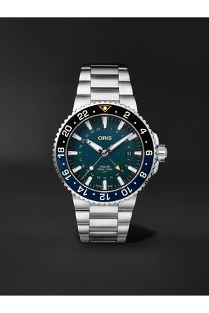 Oris Heren Horloges - Aquis Whale Shark Limited Edition Automatic 43.5mm Stainless Steel Watch, Ref. No. 01 798 7754 4175-Set