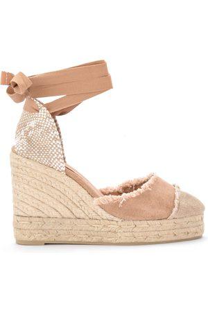 Castaner Dames Sleehakken - Catalina canvas and natural jute wedge sandal