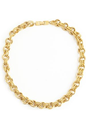 Givenchy Vintage double round link necklace