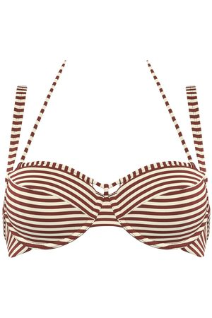 Marlies Dekkers Holi Vintage Plunge Balconette Bikini Top | Wired Padded Red-ecru - 75c