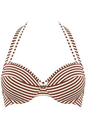 Marlies Dekkers Dames Push up bikini's - Holi Vintage Push Up Bikini Top | Wired Padded Red-ecru - 70e