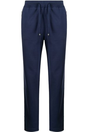 Stefano Ricci Embroidered-pocket track pants