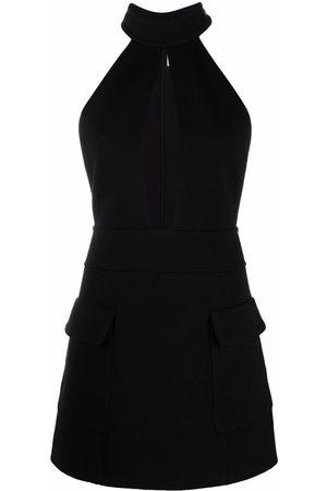 Saint Laurent Sleeveless halterneck mini dress
