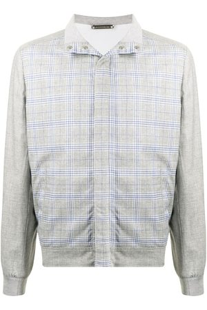 Stefano Ricci Plaid-check bomber jacket