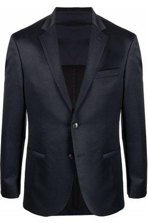 BOSS Check-print single-breasted blazer