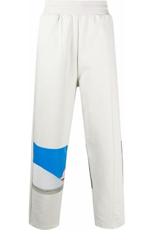 A-COLD-WALL* Embroidered-logo organic-cotton track trousers