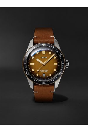 ORIS Divers Sixty-Five Automatic 40mm Bronze, Stainless Steel and Leather Watch, Ref. No. 01 733 7707 4356-07 5 20 45