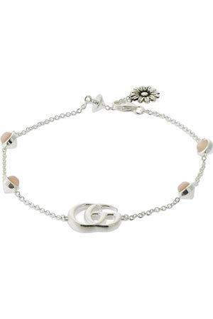 Gucci Double G Mother Of Pearl Bracelet