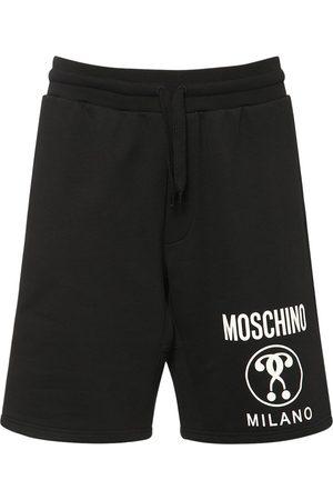Moschino Heren Shorts - Logo Cotton Jersey Shorts