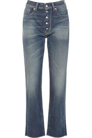 MM6 MAISON MARGIELA Dames Straight - High Waist Cotton Denim Straight Jeans