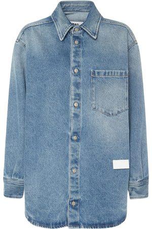 MM6 MAISON MARGIELA Dames T-shirts - Vintage Cotton Denim Shirt