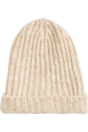 MM6 MAISON MARGIELA Dames Mutsen - Logo Mohair Blend Ribbed Knit Beanie